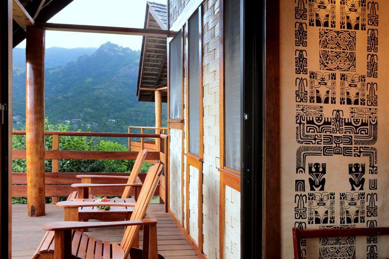 Terrasse bungalow de l'Hôtel Hanakee Lodge