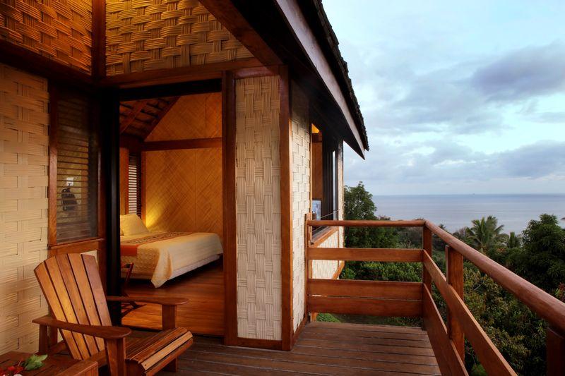 Vue mer bungalow de l'Hôtel Hanakee Lodge